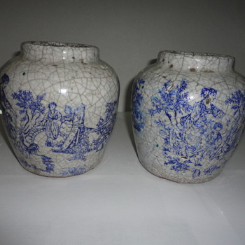 Ancient Blue and White Pottery - Pottery