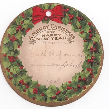1908 Christmas Tag - Christmas