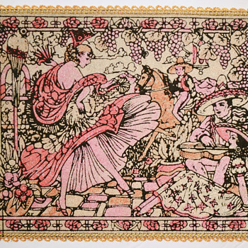 Coralene decorated place mats - Rugs and Textiles