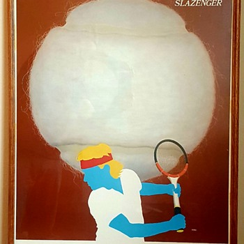Original TENNIS Slazenger poster created by Razzia
