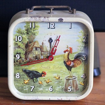 Animated Hen and Rooster Alarm Clock by Smiths - Clocks