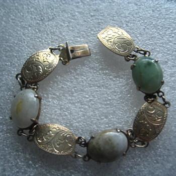Sterling Jade Bracelet  - Fine Jewelry
