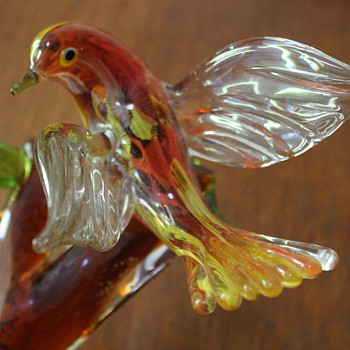 Multi Glass bird sculpture - Art Glass