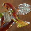 Multi Glass bird sculpture