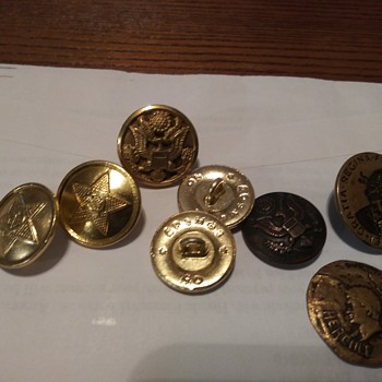 Various Vintage Buttons - Sewing