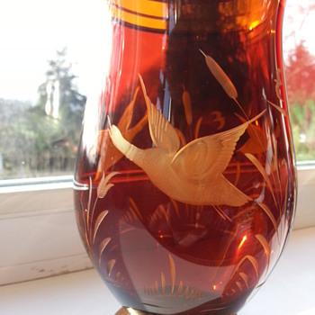 Etched Vase - ? - Art Glass