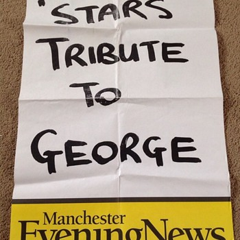 George Harrison news poster-2001 - Music Memorabilia