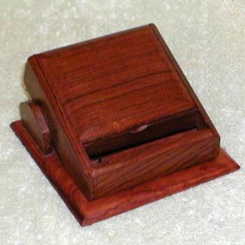 Wood Desktop Cigarette Dispenser - Tobacciana