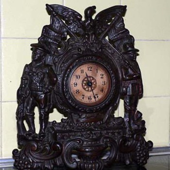 Patriot Bronze Mantel Clock