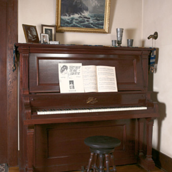 1910 Tonk Upright Grand Piano - Musical Instruments