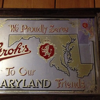 Stroh's Maryland Friends bar mirror