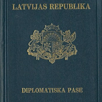 1939 Latvia Diplomatic passport for Berlin - Paper