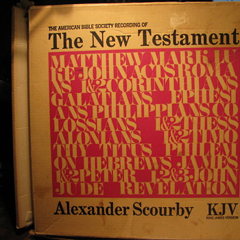 The New Testament Records-read by Alexander Scourby -The American Bible Society - Records