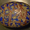 Cloisonne Trinket Box with Grizzly Bear in a Forest