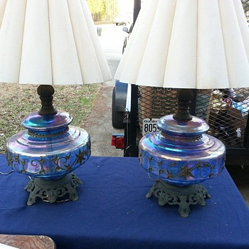 Carnival Glass Lamps (Would Love More Info)
