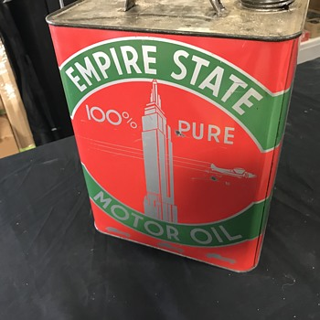 Empire State  motor oil can 2 gallon  - Petroliana