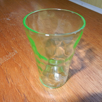 Uranium Glass Shot Glass - Glassware