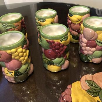Art Pottery fruit design set - Pottery