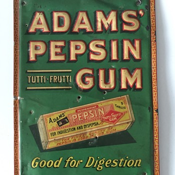 Antique WRIGLEY'S Pepsin Chewing Gum Advertising Sign Box