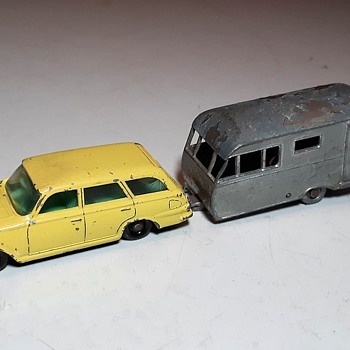 Mostly Mauled Munched Matchbox Monday MB-23 Bluebird Dauphine Caravan 1960-1962 - Model Cars