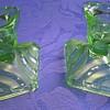 Uranium glass candlesticks.