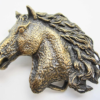Cool Possibly Bronze Old Western Style Belt Buckle? - Accessories