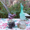 Murano Glass Archimede Seguso Alabastro Duck and Pheasant Decanters