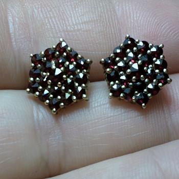 Bohemian Garnet Earrings - Fine Jewelry