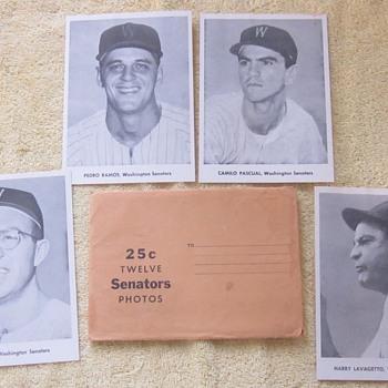 1958 Washington Senators Player's Photopack - Baseball