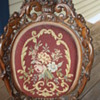 Needlepoint Chair  carved wood