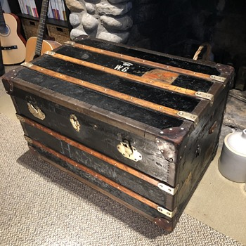 Antique trunk Hungary Wurzl  - Furniture