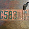 1915 Indiana Motorcycle license plate