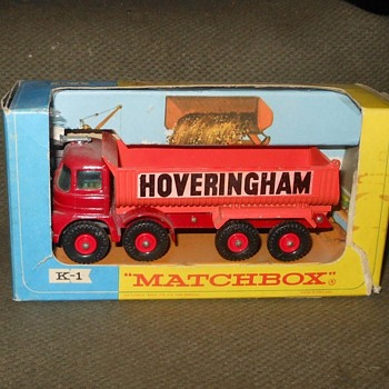 More Mountain Moving Matchbox Mondy King Size K-1 Foden Tipper Truck - Model Cars