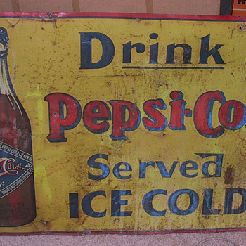 PEPSI COLA SIGN, VERY VERY RARE, AMERICAN ART WORKS 1905 - Signs