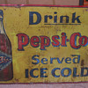 PEPSI COLA SIGN, VERY VERY RARE, AMERICAN ART WORKS 1905