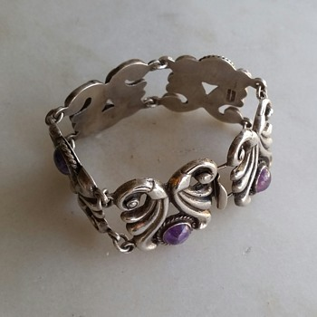 1930's-40's sterling Mexico bracelet - Fine Jewelry