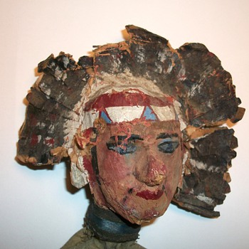 Antique American Indian Folk Art Puppet circa 1890 Collection Jim Linderman - Toys