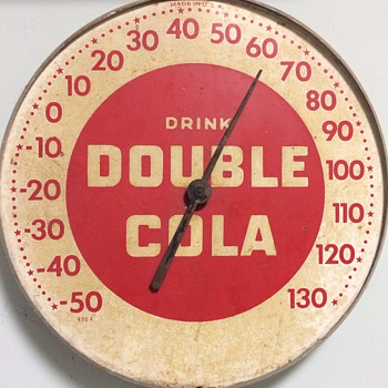 Metal Double Cola Sign/Thermometer - Signs
