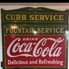 1930s Coca Cola Fountain Service & Curb Service Sign