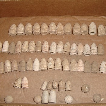 Civil War bullets excavated in Maryland years ago. - Military and Wartime
