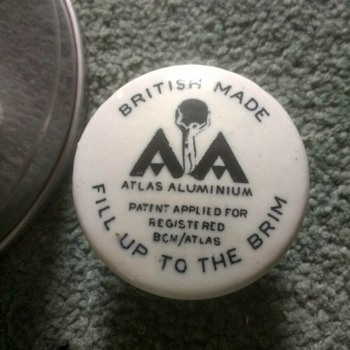 Atlas AA Alumimum camping hot water plate warmer, British made possibly 1960s retro