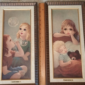 "Turner Wall Accessory Framed Prints ""Blowing Bubbles"" & ""Baby Sitter"" - Fine Art"