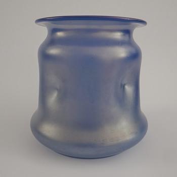 Loetz Himmelblau Glatt or Blauopal Iris - Art Glass