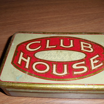 H B Fuller Club House Cigar Tin Box - Advertising