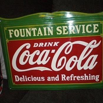 """18"""" x 24"""" Coca Cola Fountain Service Sign - Coca-Cola"""