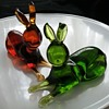 Rainbow Art Glass rabbits