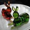 Rainbow Art Glass rabbits