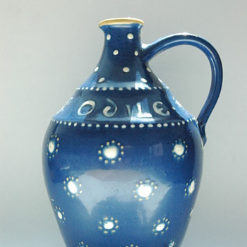 a rare art deco pottery jug for wine grower PIERRE WEISSENBURGER, by LEON ELCHINGER - Pottery
