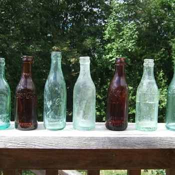 My staright sided coca cola bottle collection circa 1906-1917