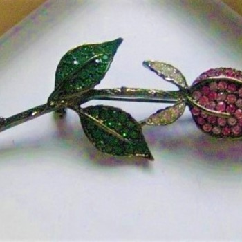 Multi Pink Romantic Rose Brooch by Kenneth Lane - Costume Jewelry